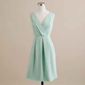 J.Crew Aveline Dress in Washed Crepe in Wave Crest